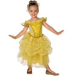 Morph Girls Belle Princess Costume Yellow Medium