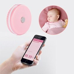 Monitec Smart Baby Thermometer Wearable Professional Accurate Monitor Via  App Compatible With Ios And Android Fda Approved Pink | R | Babies |