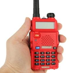 Silulo Online Store Baofeng UV-5R Professional Dual Band Transceiver Fm Two Way Radio Walkie Talkie Transmitter Red - Red