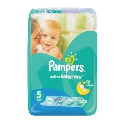 Pampers Active Baby Dry 42 Nappies Size 5