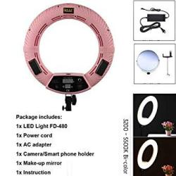 """Yidoblo FD-480 18"""" 96W 480 Smd LED Ring Light Dimmable 3200K-5500K Bi-color Camera Photo Studio Video Portrait Photography Continuous Lighting Shoot +"""