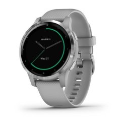 Garmin Vivoactive 4S - Silver Stainless Steel Bezel With Powder Gray Case