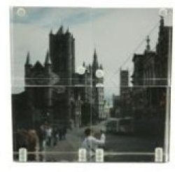 Clear Acrylic Photo Frame - 4 Windows 2 2 Inch