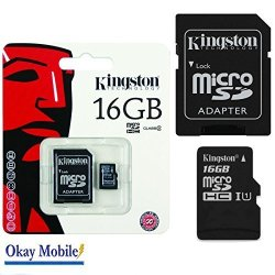 Kingston Original Microsd Memory Card 16GB For Samsung Galaxy A3 6 2016A310F