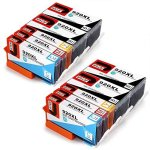 JetSir 2 SET+2 Black Compatible Ink Cartridge Replacement For Hp 920 XL High Capacity Compatible With Hp Officejet E710A E709A 6