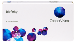 Biofinity Cooper Vision Contact Lenses Monthly 6 Pack