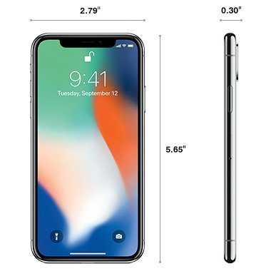 Apple iPhone X 64GB in Silver