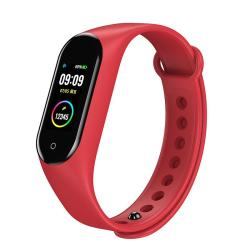 SADI Store Bakeey M4V Custom Dials Full Touch Screen Heart Rate Blood Pressure O2 Monitor Weather Push USB Charging Smart Watch - Red