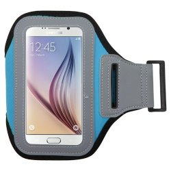 Avarious Sports Exercise Workout Armband Case For Motorola Droid Turbo Motorola Droid Maxx Motorola Droid Ultra Sky Blue grey