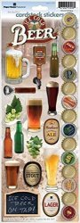 Paper House Productions STCX-0109E Cardstock Stickers Beer