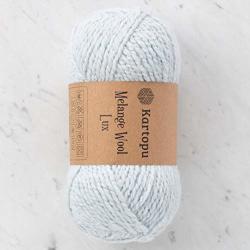 3 Skein Kartopu Melange Wool Lux Heather Yarn 77% Acrylic 20% Wool 3% Metallic Yarn Total 10.5 Oz Each 3.5 Oz 100G 174 Yrds 160M 5 Bulky-chunky Cyan - SOK012