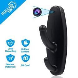 Hidden Camera Clothes Hook MINI Spy Camera HD 1080P Nanny Cam Motion Detection Surveillance Security Camera Video Recorder For I