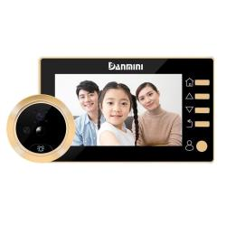 Danmini Q10 4.3 Inch Screen Motion Detection Camera Video Alarm Smart Digital Door Viewer Support Tf Card Gold