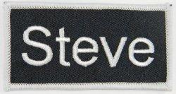 Tag Name Steve Iron On Uniform Applique Patch