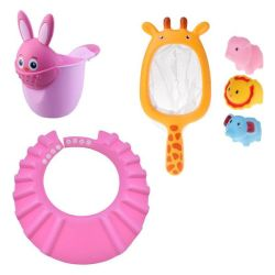 Baby Bath Toy & Washing Hair Pink Bunny
