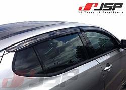 Jsp Window Vent Deflector Rain Guard Visor Compatible With 2011-2015 Kia Optima Smoke 218006