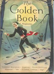Golden Book 1 1931-PULP Fiction-art Deco Cover-maugham-saki-orban-vg