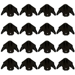 Goldwood Sound, Inc. Goldwood Sound GC-303B Steel Black Cabinet Corners Set Of 16 Protective Speaker 3 Leg Corners