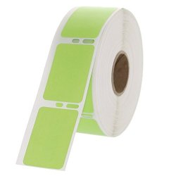 "Dymo Compatible 30347G Green Labels 1"" X 1-1 2"" 750 Labels Per Roll"
