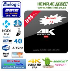 TV Box H96 Pro 4K 2 16G Android 7 1 Kodi 17 S912 Octa-core Media Player |  R1790 00 | Media Centres & Multimedia Players | PriceCheck SA