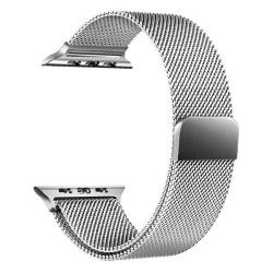 38MM Apple Watch Strap By Zonabel - Milanese Loop - Silver Stainless Steel