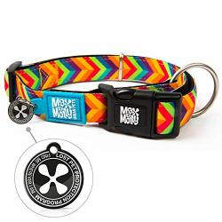 Max & Molly Ultra Comfortable Padded Neoprene Sport Dog Collar With Smart Id Tag Classic Summertime M