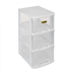 Addis 3 Drawer Slimeline Storage Unit White