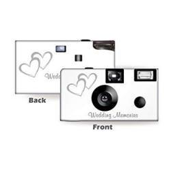 10 Coupled Hearts Wedding Disposable Cameras Anniversary Single Use Flash WM-50346-C