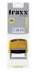 """Traxx T-printer It Self Inking Stock Text Stamp""""fatt.co Mm Aperta"""" 0552"""