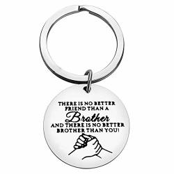 Brother Gifts Keychain No Better Brother Than You Friendship Keyring Best Friend Gift Brother In Law Gift Birthday Christmas Wedding Gift For Brother Family