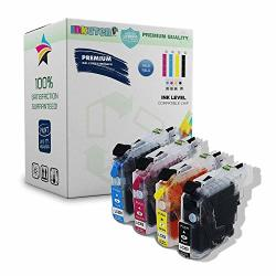Inkuten 4 Refillable Cartridge For Brother LC203 LC203XL Prefilled With Auto Reset Chips