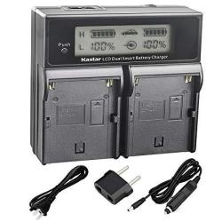 Kastar Lcd Dual Smart Fast Charger For Sony BP-U90 BPU90 BP-U96 And PMW-100  PMW-150 PMW-160 PMW-200 PMW-300 PMW-EX1 PMW-EX1R PMW | R1115 00 | Handheld