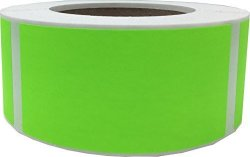 "Fluorescent Green Color Coding Labels 2 X 4"" Inch Rectangle Shaped Colored Stickers For Inventory Strong Adhesive 500 Stickers roll"