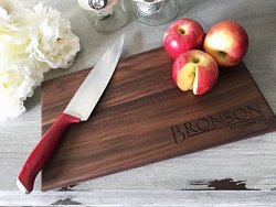 Engraved Personalized Wooden Cutting Board Choose From Walnut Maple Or Cherry