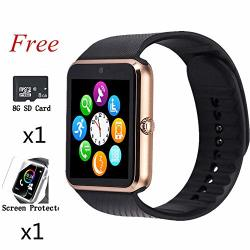 Aidiado Smart Watch Bluetooth Touch Screen Watch Phone For Android Iphone Pedometer Smartwatch Sport Wrist Watch Compatible Samsung Ios Men Women Kids
