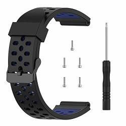 Tusita Band For Bushnell Neo Ion 1 Ion 2 Excel - Silicone Replacement Strap Bracelet Wristband - Golf Gps Smart Watch Accessories Black+blue
