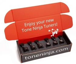 USA Genuine Tone Ninja Tuners 3X3 Tulip Button Black
