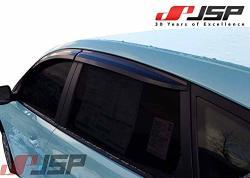 Jsp Window Vent Deflector Rain Guard Visor Compatible With 2011-2017 Hyundai Accent Sedan Smoke 218004