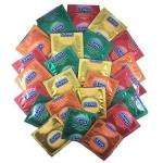 Durex Fruity Flavors Collection Strawberry Banana Apple And Orange Premium Flavored Latex Condoms And Silver Pocket travel CASE-
