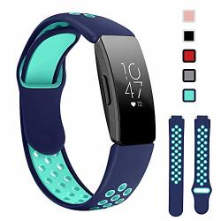 Lintelek Replacement Bands Compatible With Fitbit Inspire Hr Soft Friendly Silicone Wristband Washable Breathable Straps For Sports Women Men Small Large