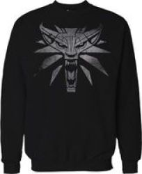 Jinx The Witcher 3 White Wolf Mens Sweather Blacklarge