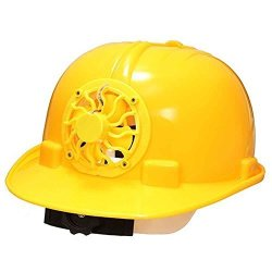 CAROLE4 Amamber Solar Safety Helmet Hard Hat Cap With Cooling Cool Fan