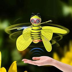 USA Aored Little Bee Induction Helicopter USB Charging Induction Suspension Aircraft Child MINI Small Plane Quadcopter Suspension Induction Airplane