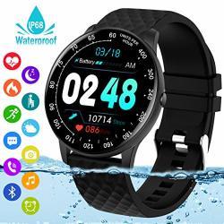 SMART WATCH Fitness Tracker Watch With Heart Rate Blood Pressure Monitor IP68 Waterproof Bluetooth Smartwatch Sports Activity Tracker Smart Bracelet For Men Women Kids