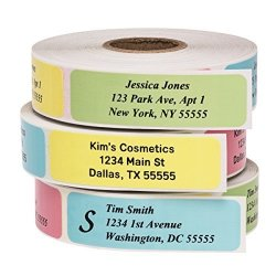 500LABELS Return Address Labels - Roll Of 500 Personalized Labels Multi-color