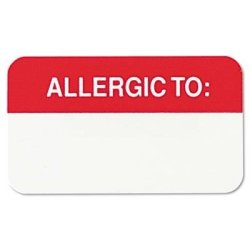 "Tabbies - 6 Pack - Medical Labels For Allergies 7 8 X 1-1 2 White 250 ROLL ""product Category: Labels Indexes & Stamps labels & Stickers"
