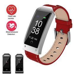 Feifuns Fitness Tracker Smart Watch Water Resistant With Heart Rate Monitor blood Pressure sleep Monitor pedometer timer intelligent Reminder With Soft Genuine Leather Band For Android Or Ios
