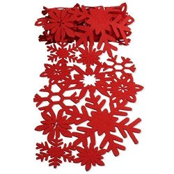 """Tag - Winter Runners A Perfect Addition To Any Table 60"""" X 14.5"""" X 0.01"""" Snowflake"""