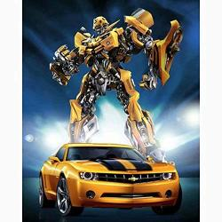 Diy Full Diamond Painting Cross Stitch Kit For Adults Home Decoration Transformers Bumblebee Car
