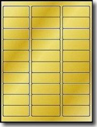 Label Outfitters 600 2 5 8 X 1 Metallic Gold Foil Laser Permanent Adhesive Address Labels 20 Sheets